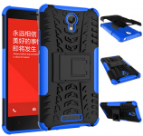 Чохол бампер до смартфонів Xiaomi Redmi Note 2 Anti-shock Black/Blue