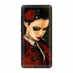 Вінілова наклейка обкладинка Back cover for Xiaomi Mi4 (Girl)