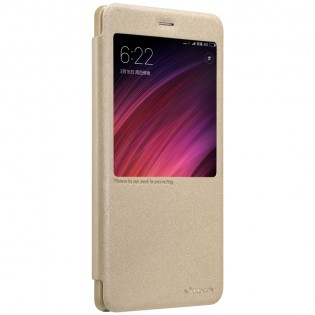 Чохол книжка Nillkin Sparkle Leather XIAOMI RedMi Note 4X Gold SP-LC HM-NOTE 4X