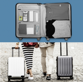 Валіза Xiaomi 90 points suitcase White moon light 24""