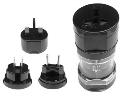 Універсальний адаптер Multiple socket adapter without USB slot Black