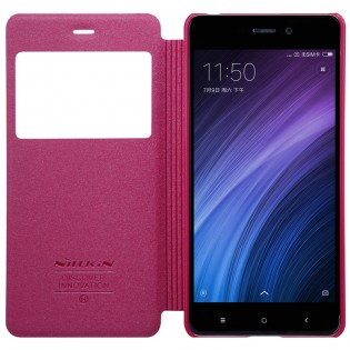 Чохол книжка Nillkin Sparkle Leather XIAOMI RedMi 4 Red SP-LC REDMI4