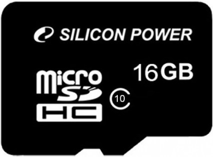 Карта пам'яті Silicon Power Micro SDHC card 16GB Class10 (SP016GBSTH010V10)