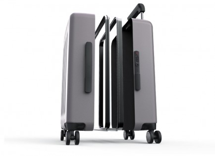 "Валіза Xiaomi 90 points aluminum closing frame suitcase 24"" Grey"