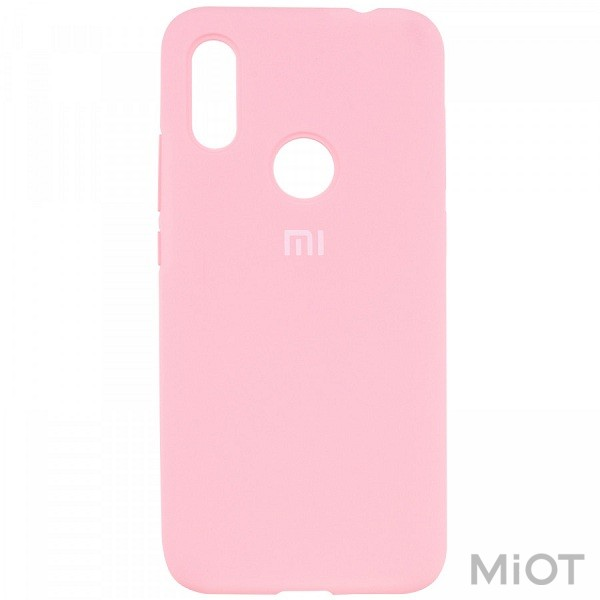 Чохол бампер  Silicone Cover Full Protective Xiaomi Redmi 7 Light Pink