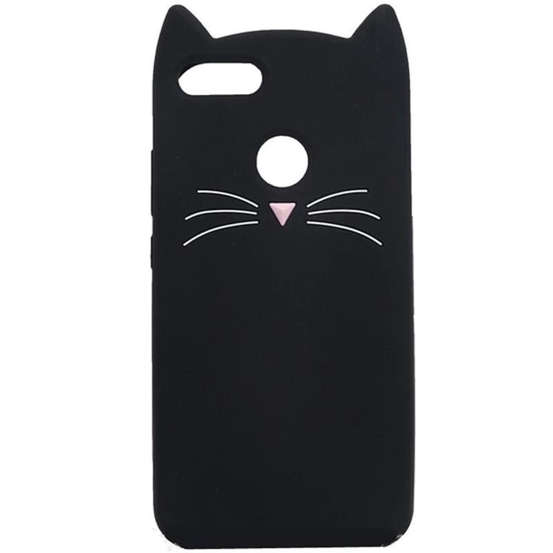Силіконова накладка 3D Cat для Xiaomi Redmi 6 Чорний (106839) Epik