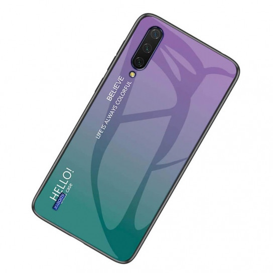 TPU+Glass чохол Gradient HELLO для Xiaomi Mi A3 (CC9e) Violet (109048)