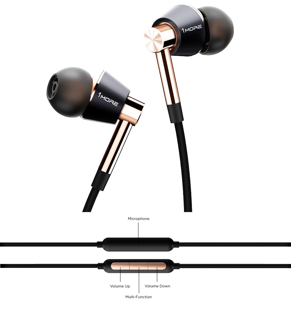 Навушники 1MORE Triple Driver In-Ear Headphones армування