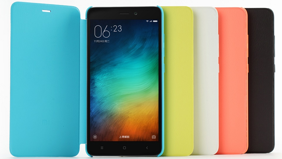 Чохол книжка Сolorful Protective Case Xiaomi Mi Note 3 ORIGINAL в п'яти кольорах