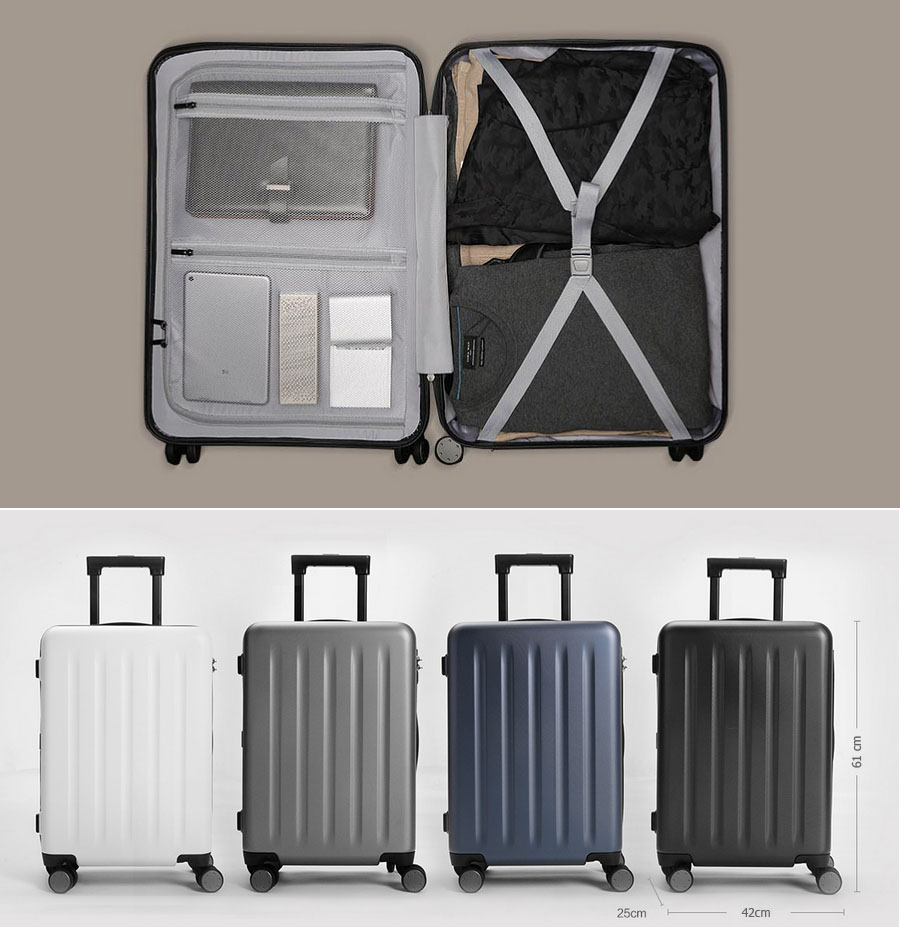 Валіза Xiaomi 90 Points Suitcase Dark Grey Magic Night 28`` всередині
