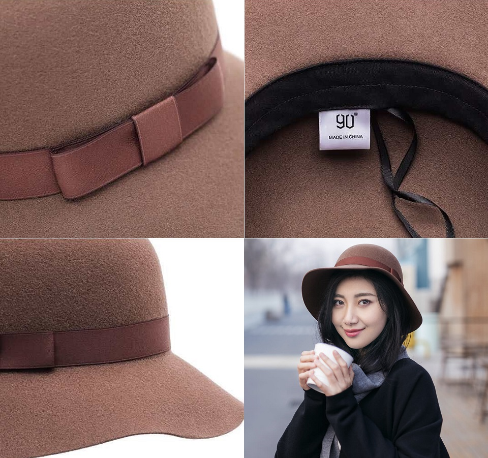 Капелюшок 90 Exquisite How Wool Felt Hat елементи дизайну