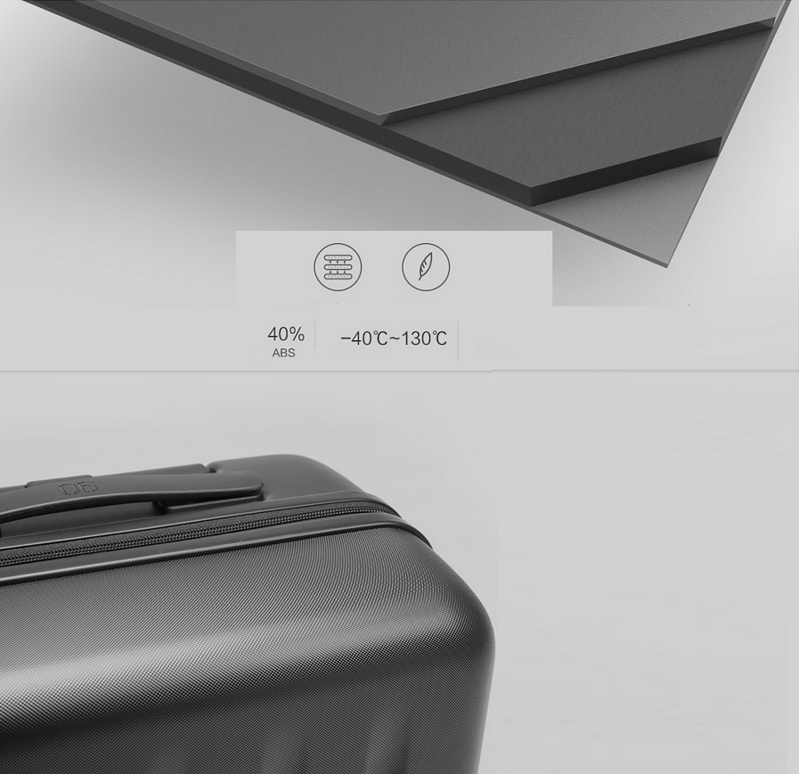 Валіза Xiaomi 90 Points Suitcase Dark Grey Magic Night 28`` в дорозі