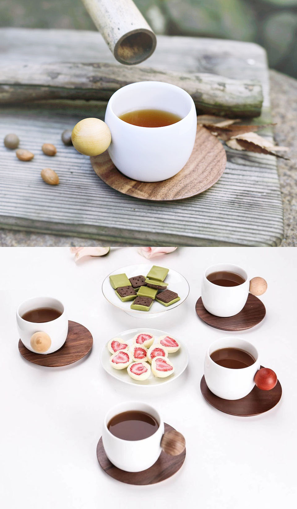 Набор Finemading coffee cup (2 sets group) розміри