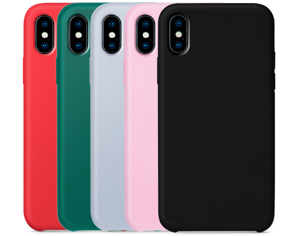 Чохол накладка Guildford Liquid Silicone Magnetic Plug iPhone X 5 кольорів