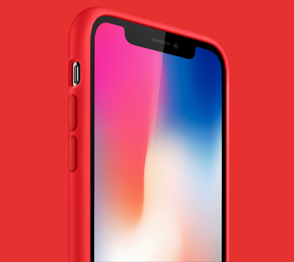 Чохол накладка Guildford Liquid Silicone Magnetic Plug iPhone X округлені грані