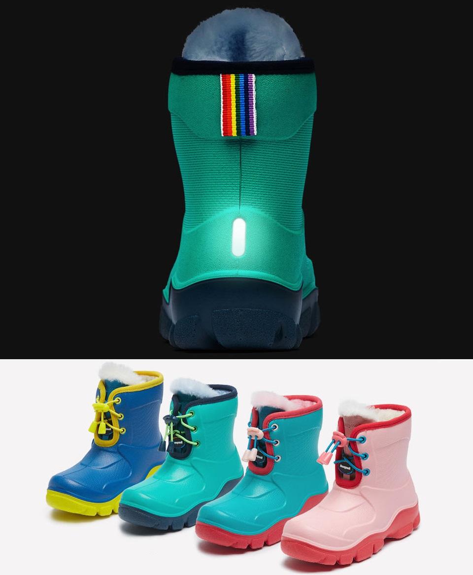 1fd039ee4de259 Дитячі чоботи Honeywell kids boots Green / Red 32 size світловідбивачі