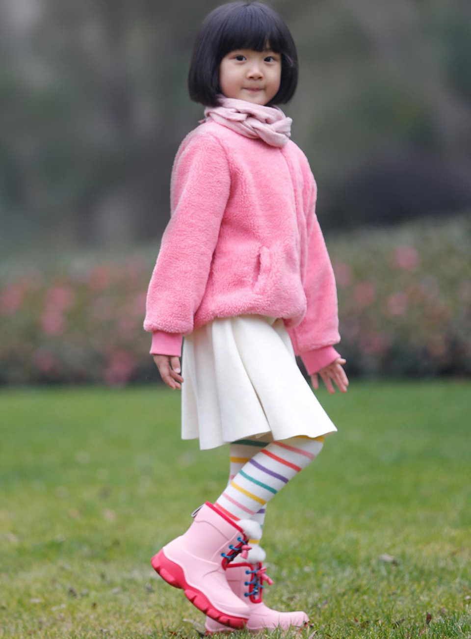 e6ec8c5e452c15 Дитячі чоботи Honeywell kids boots Green / Red 32 size на дівчинці