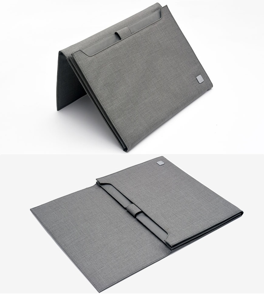 Чохол кишеня KACO Mi Notebook ALIO Premium Business Folder в розгорнутому вигляді