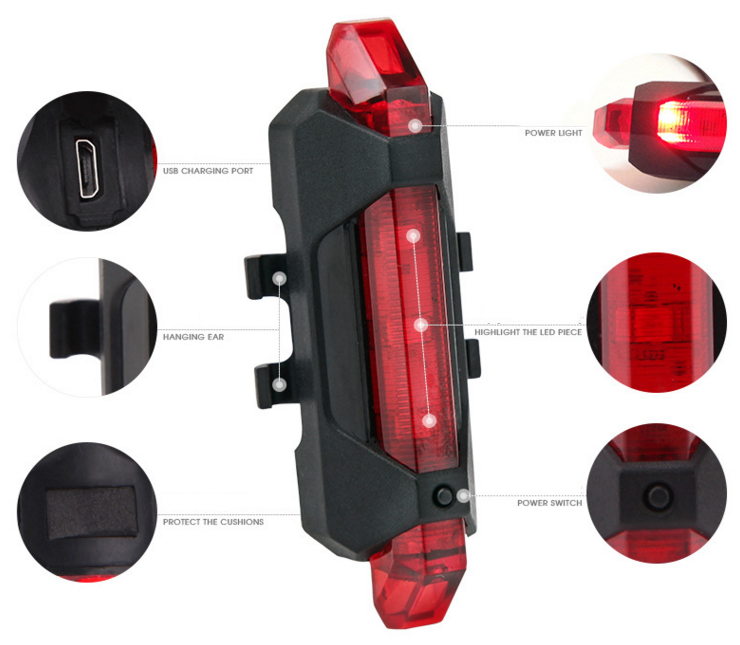 LED lights Rechargeable Bike Red характеристики