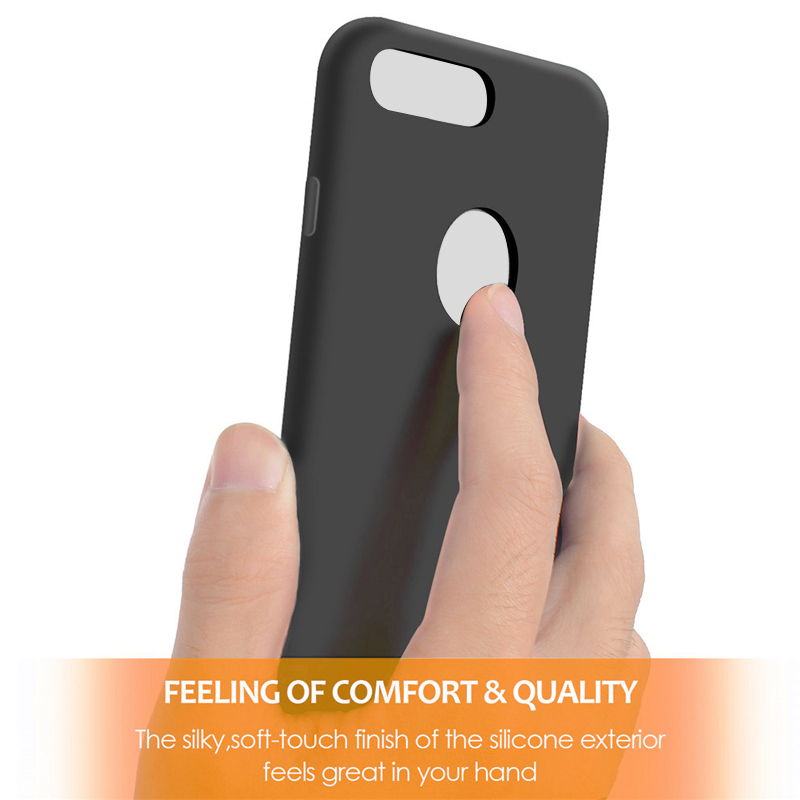 Liquid Silicone Magnetic Plug iPhone 7 Black