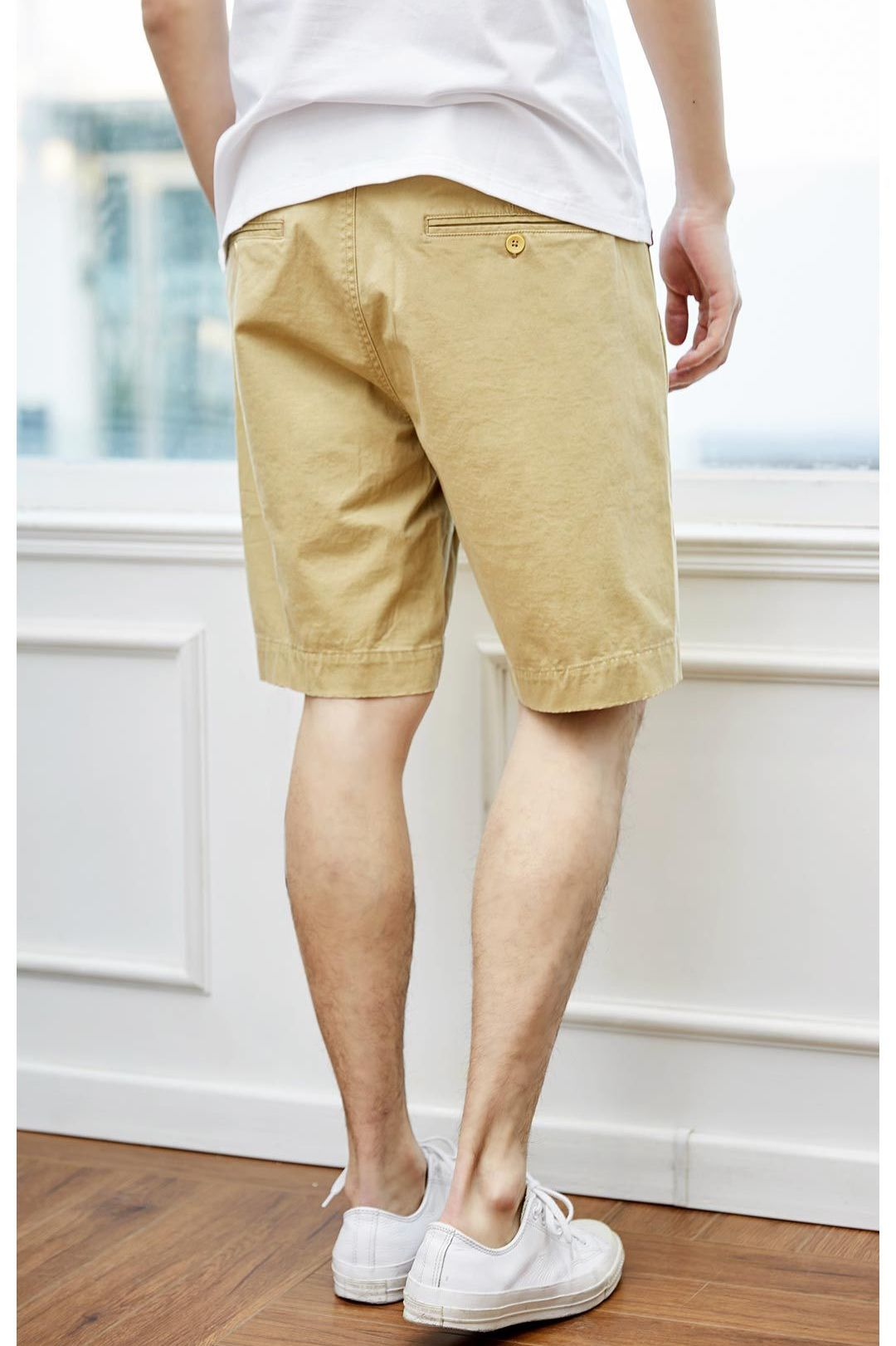 MITOWN-Urban-casual-shorts-Beige