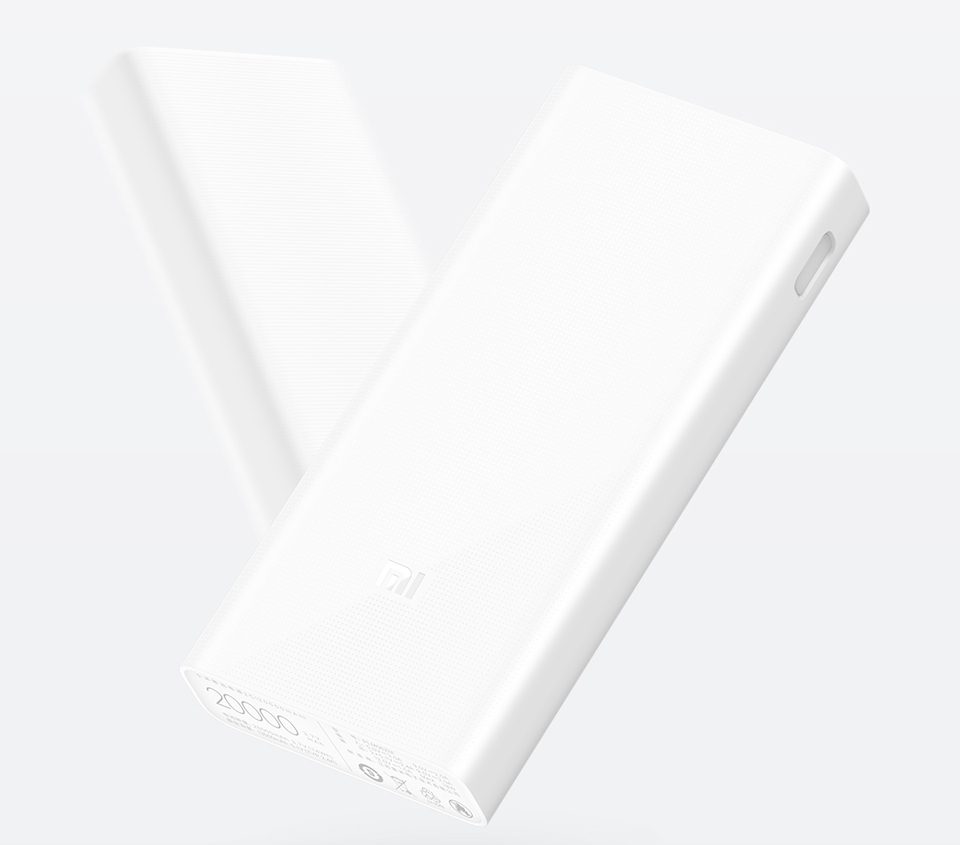 Універсальна батарея Xiaomi Mi power bank 2C 20000mAh White ORIGINAL крупним планом