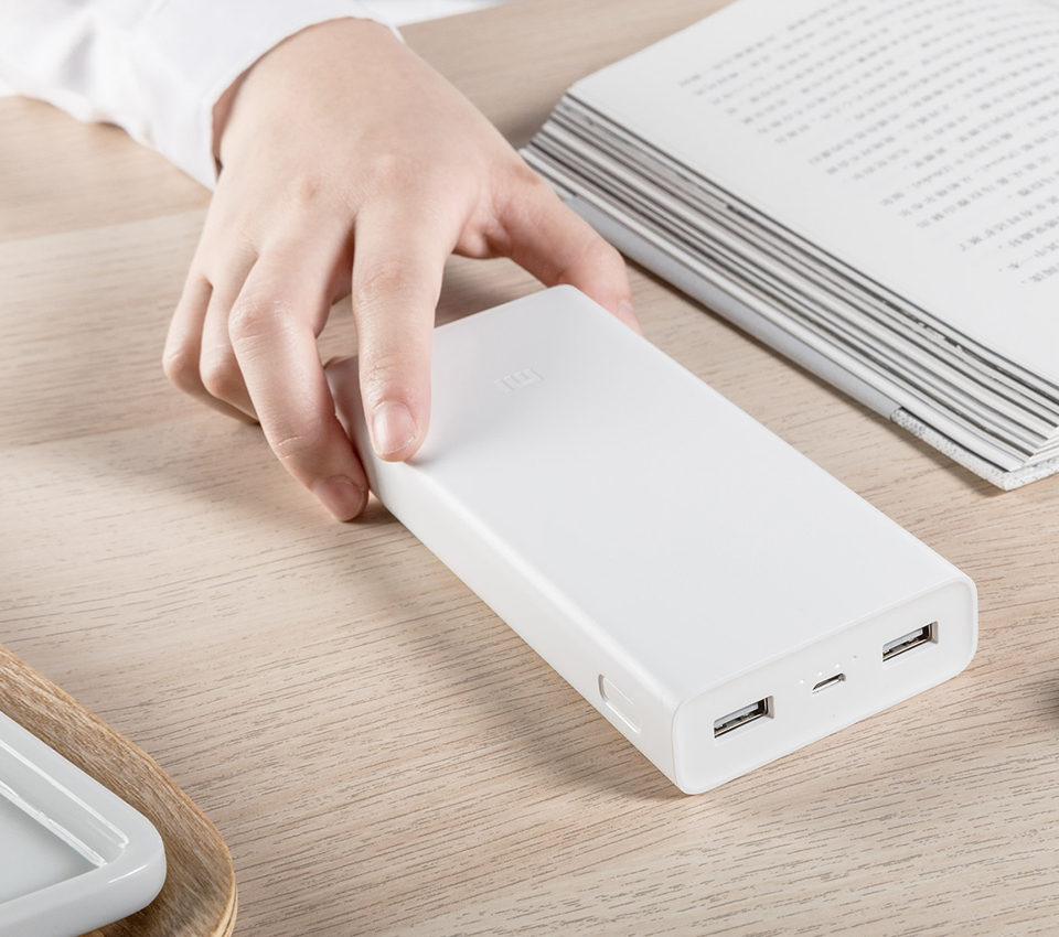 Універсальна батарея Xiaomi Mi power bank 2C 20000mAh White ORIGINAL витончений дизайн