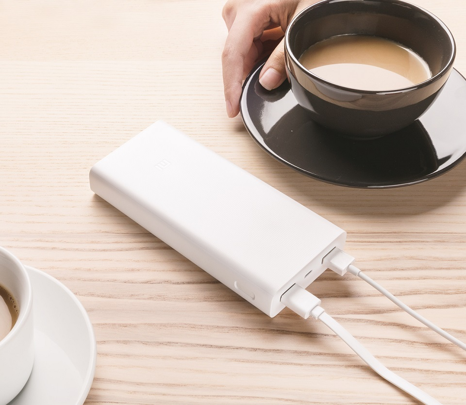 Універсальна батарея Xiaomi Mi power bank 2C 20000mAh White ORIGINAL зарядка 2-х пристроїв