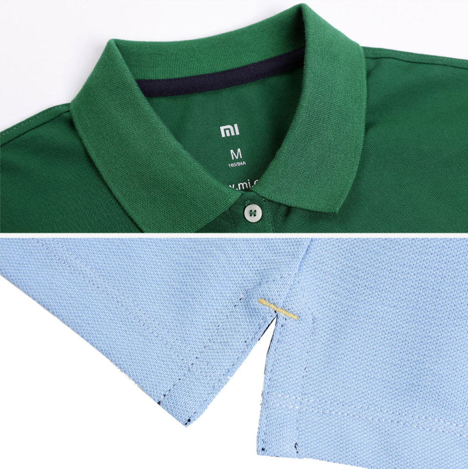 Mi solid POLO Shirt Women Blue матеріал