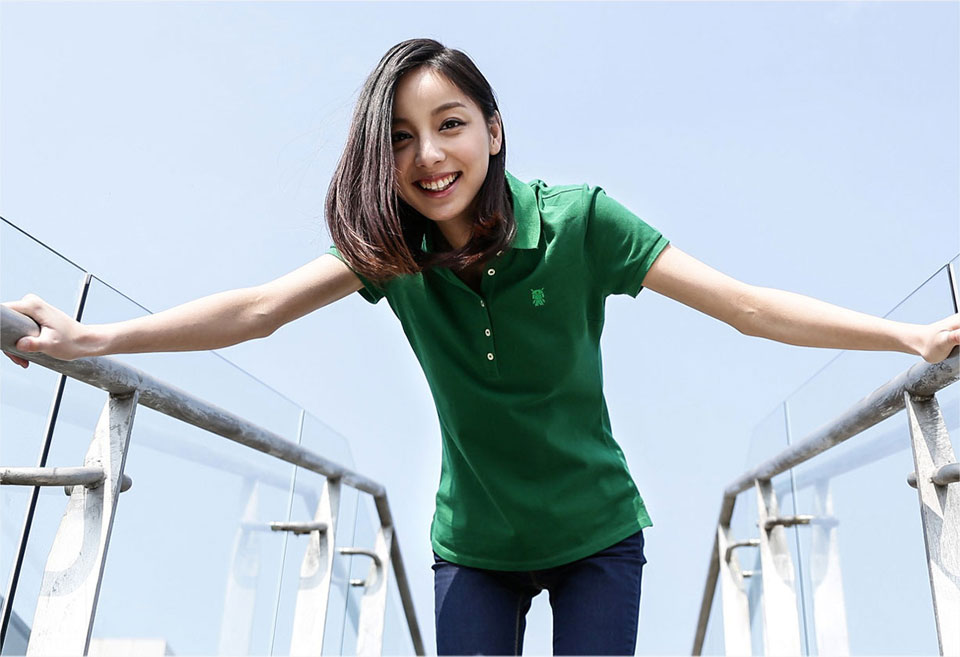 Mi solid POLO Shirt Women Gree девушка