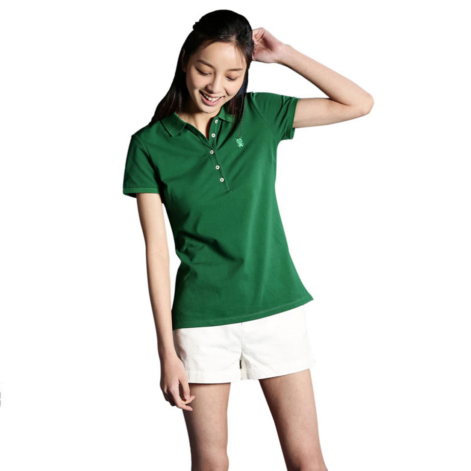 Mi solid POLO Shirt Women Gree основной