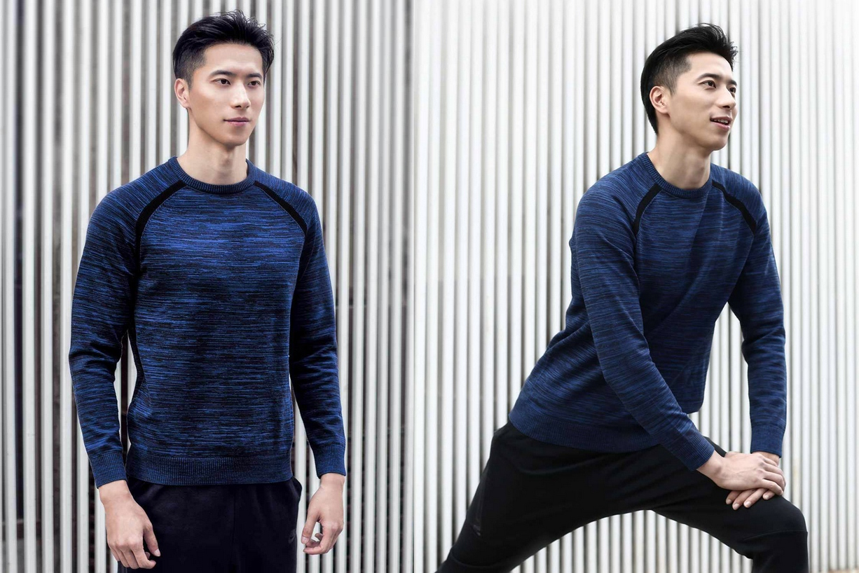 MiTOWN-Round-Neck-Sweater-Blue