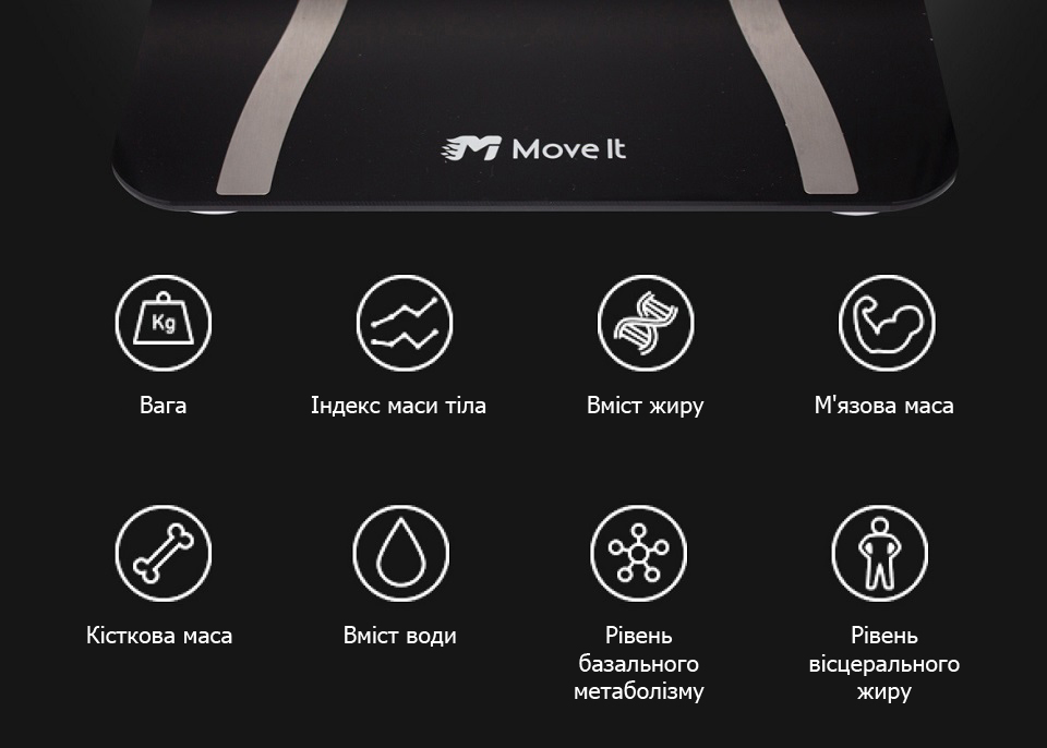 Ваги Move It Smart Scale Black 8 показників