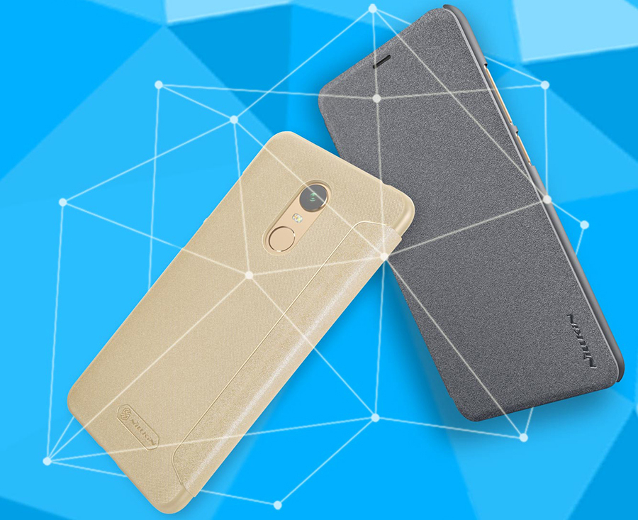 Чохол книжка Nillkin Sparkle Leather Case SP-LC Xiaomi Redmi 5 Plus крупним планом