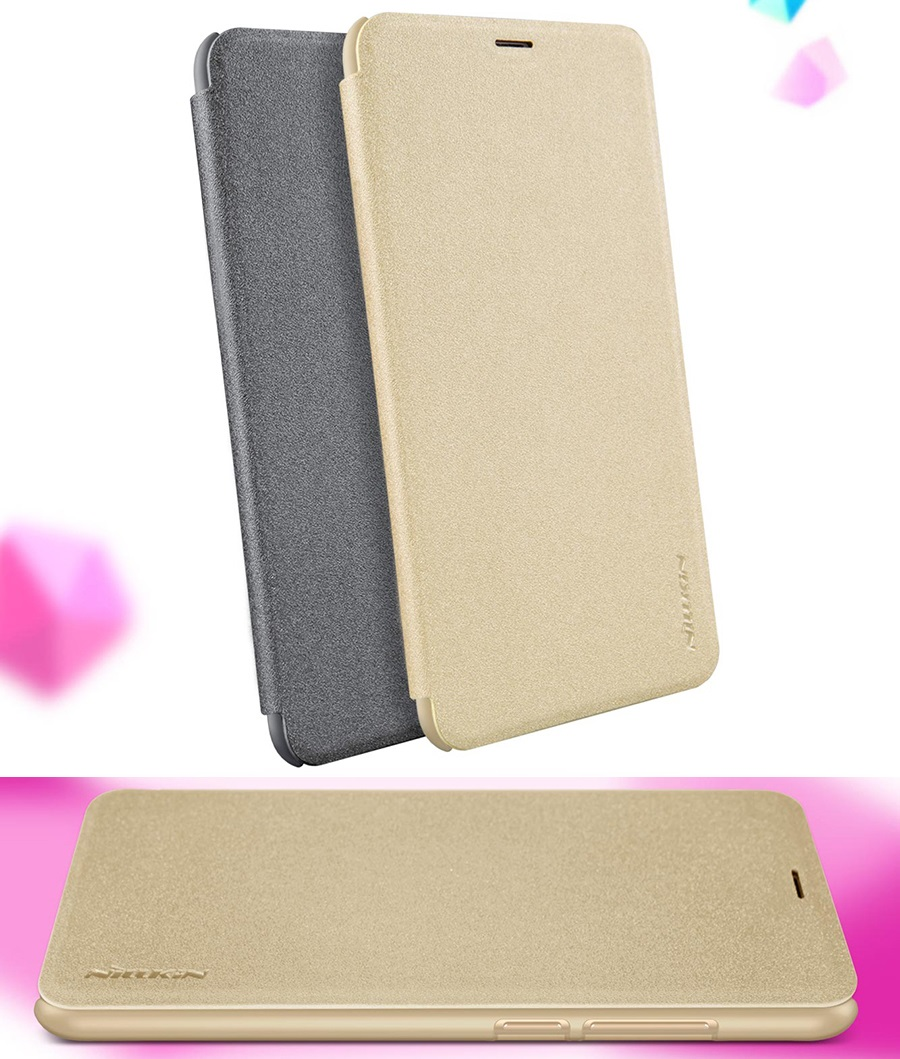 Чохол книжка Nillkin Sparkle Leather Case SP-LC Xiaomi Redmi 5 Plus в різних ракурсах