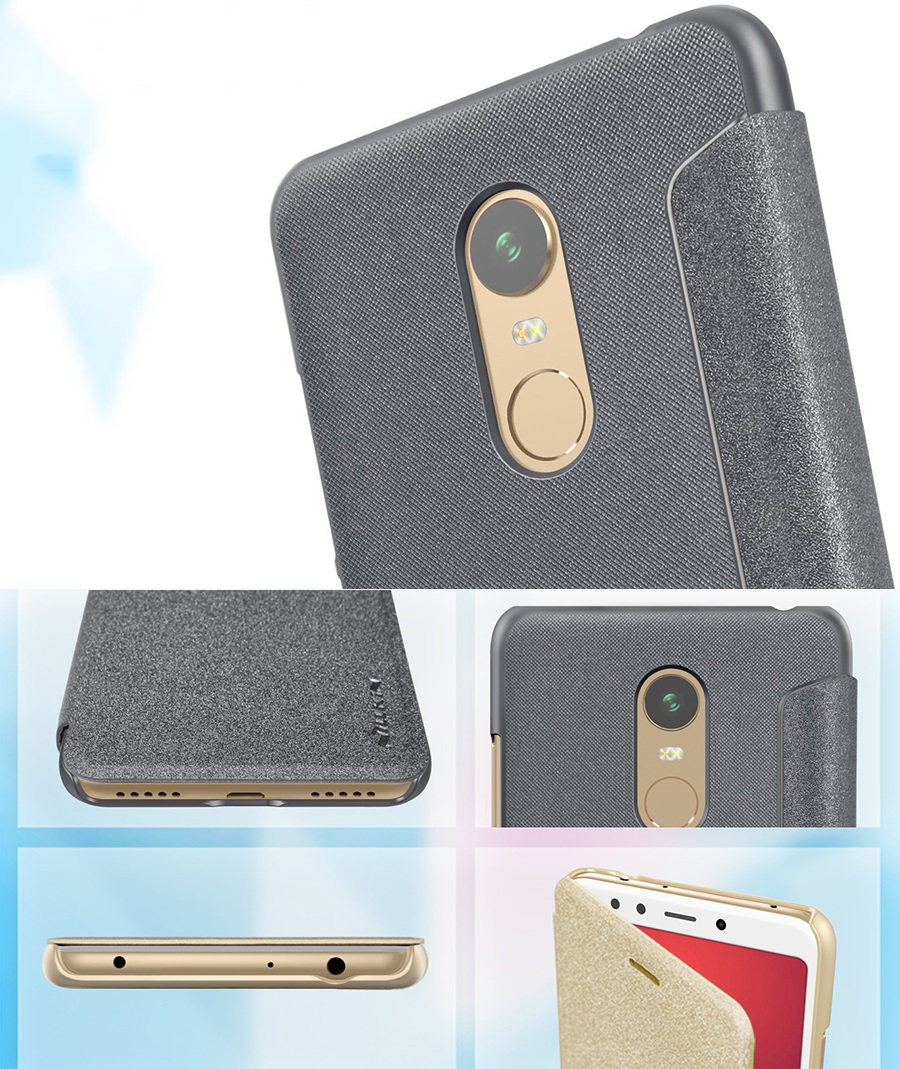 Чохол книжка Nillkin Sparkle Leather Case SP-LC Xiaomi Redmi 5 Plus вирізи під роз'єми
