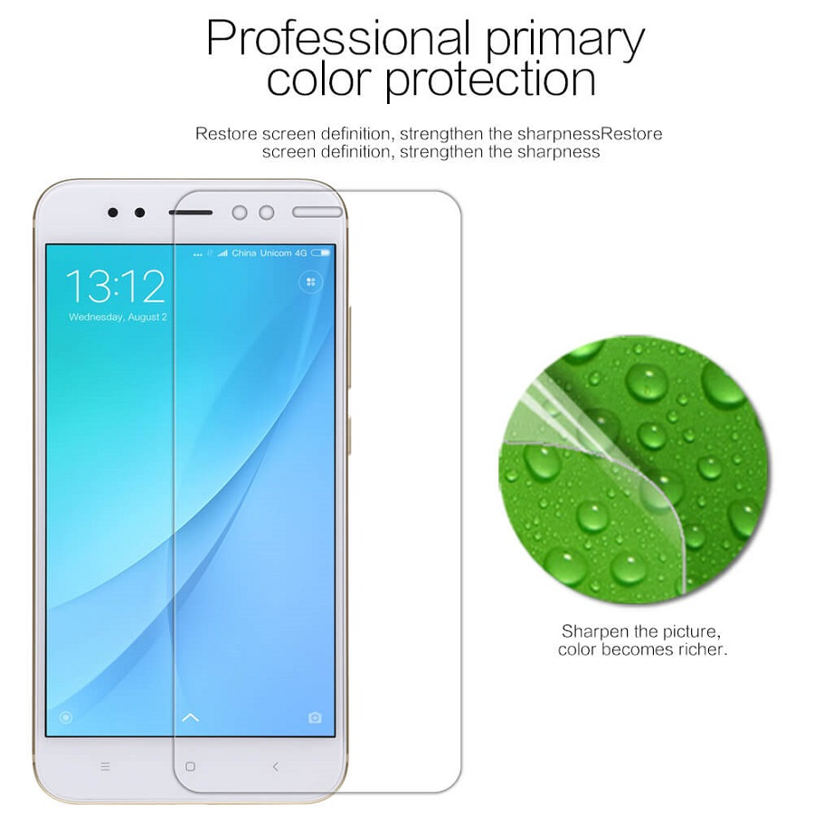 91/5000 Zashchitnaya plenka Nillkin Mi A1/5X Super Clear Anti-fingerprint Protective Film tsvetoperedacha