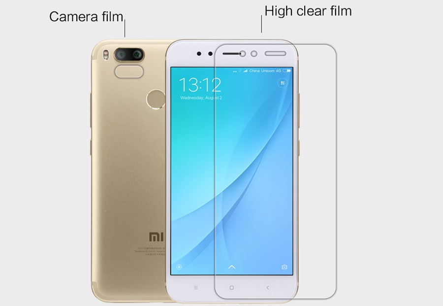 Захисна плівка Nillkin Mi A1 / 5X Super Clear Anti-fingerprint Protective Film вирізи під екран