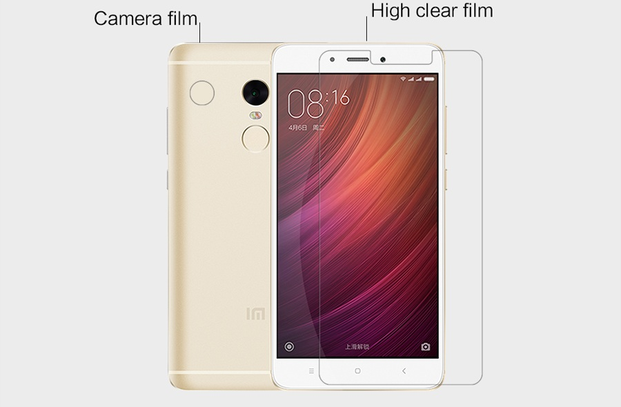 Захисна плівка Nillkin RedMi Note 4X Super Clear Anti-fingerprint Print вирізи