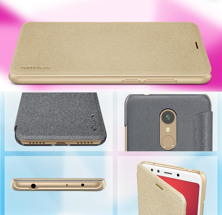 Чохол книжка Nillkin Sparkle Leather Case SP-LC Xiaomi Redmi 5 вирізи під інші роз'єми