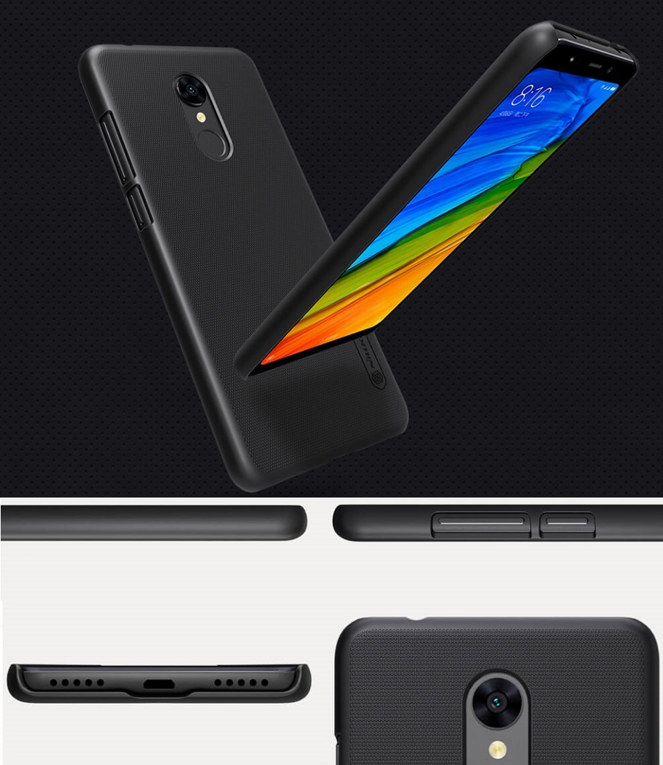 Чохол бампер Nillkin Xiaomi RedMi 5 Super Frosted Shield в різних ракурсах