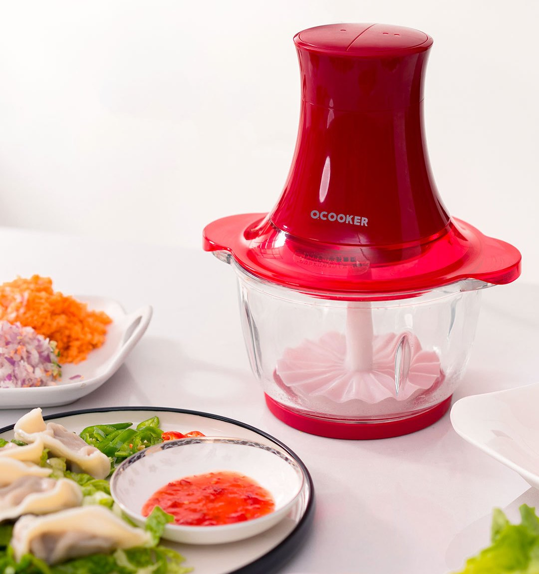 O COOKER-Small-Grinder-Red