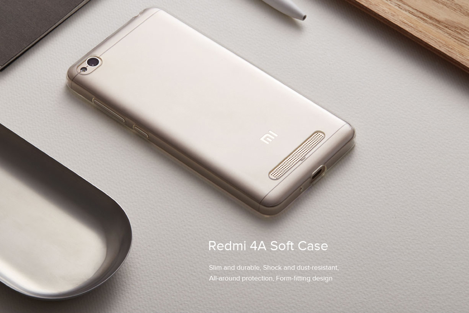 Чохол бампер до Redmi 4A Soft Case Clear ORIGINAL на смартфоні