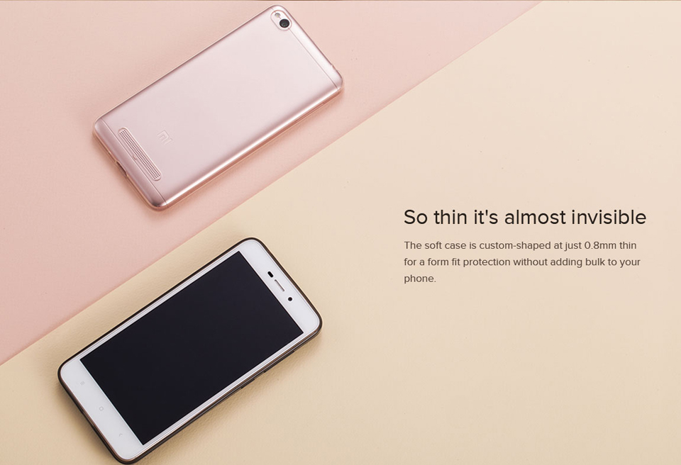 Чохол бампер до Redmi 4A Soft Case Clear ORIGINAL в різних ракурсах