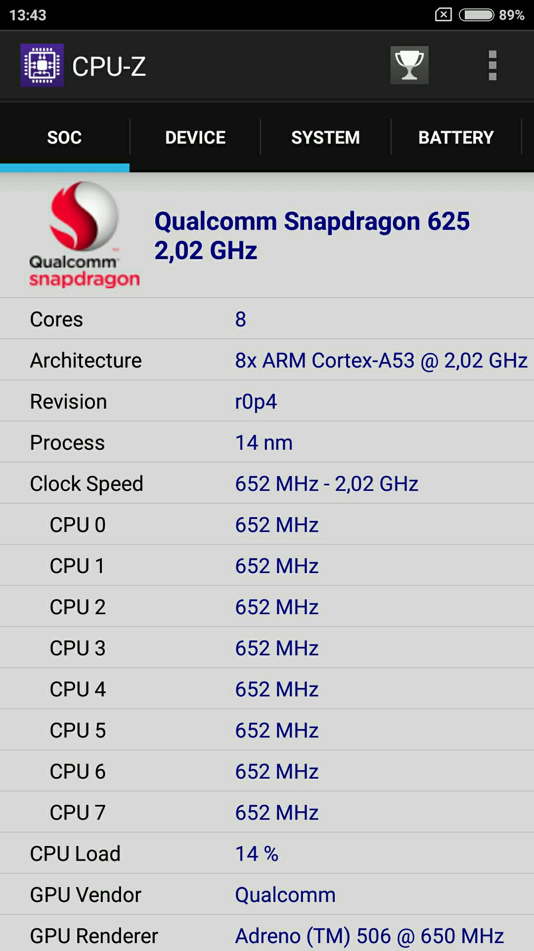 Redmi Note 4X Snapdragon 625