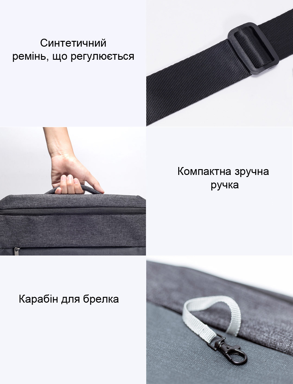 RunMi 90GOFUN Urban Simple Mail Bag будова