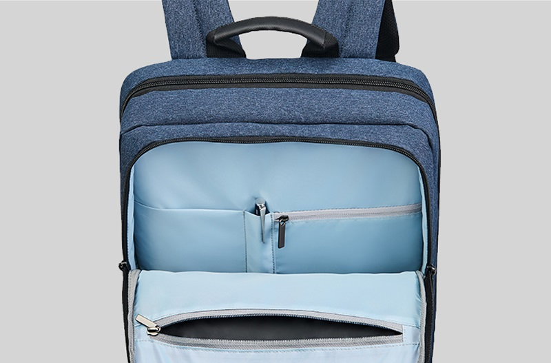 Рюкзак RunMi 90 Points Classic Business Backpack кишені на замках
