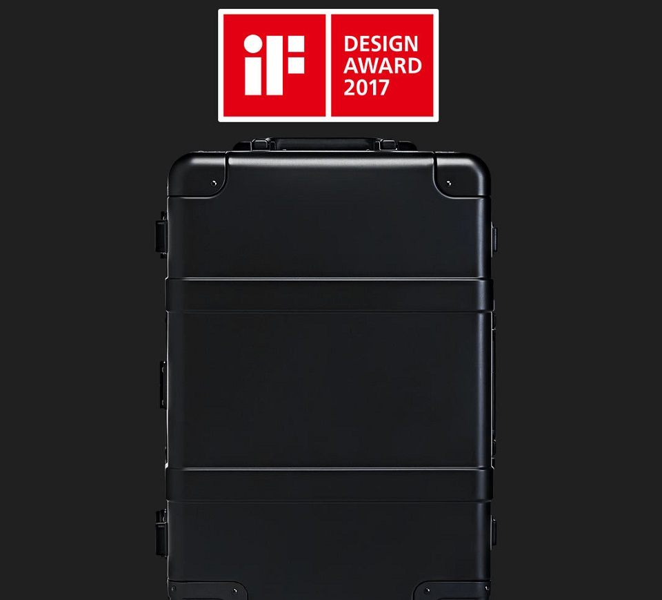 "Валіза RunMi 90 Points Smart Metal Suitcase Fingerprint Unlock Black 20"" нагорода"