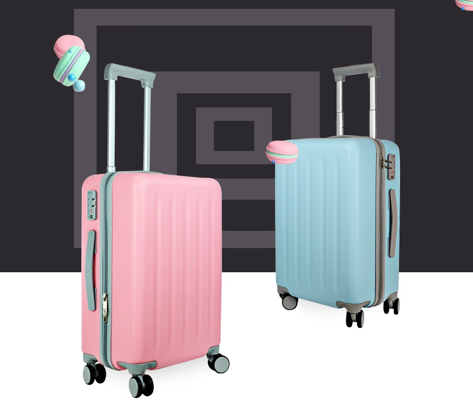 "Валіза RunMi 90 Points suitcase Maсaron Green 20 ""в двох кольорах"