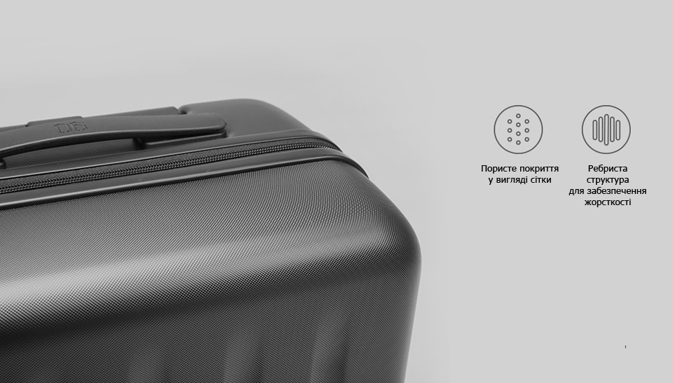 "Валіза RunMi 90 Points suitcase Maсaron Green 20"" покриття"